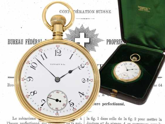 Pocket watch: very fine Patek Philippe pocket watch No. 130354, sold to Tiffany in 1905, with original box - photo 1
