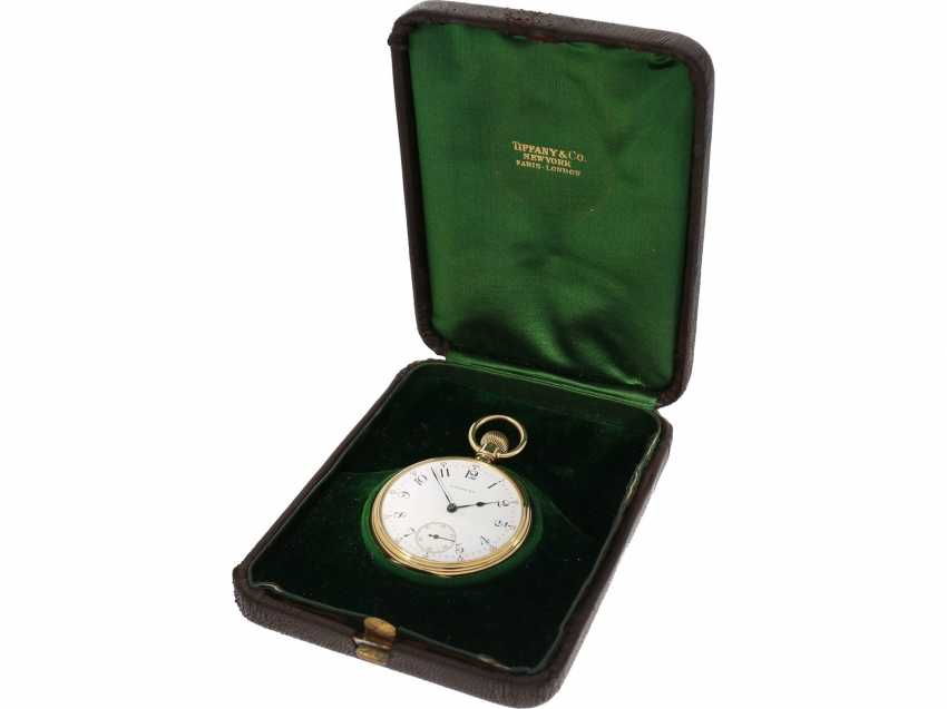 Pocket watch: very fine Patek Philippe pocket watch No. 130354, sold to Tiffany in 1905, with original box - photo 2