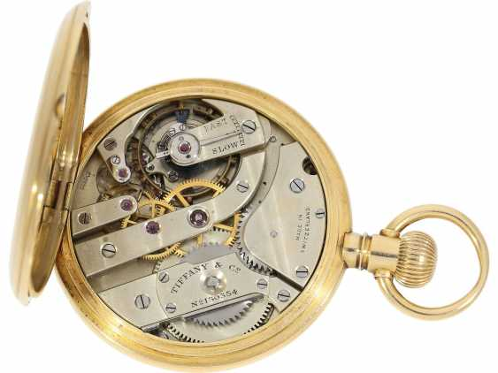 Pocket watch: very fine Patek Philippe pocket watch No. 130354, sold to Tiffany in 1905, with original box - photo 5