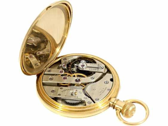 Pocket watch: very fine Patek Philippe pocket watch No. 130354, sold to Tiffany in 1905, with original box - photo 6