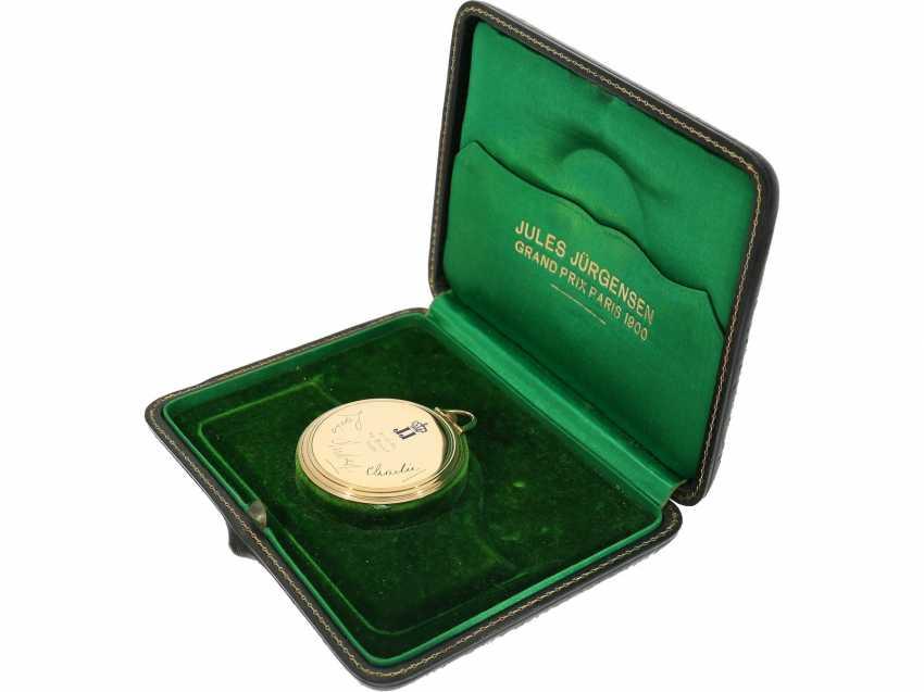 Pocket watch: rare, very fine Art Deco Frackuhr with Breguet dial, Jules Jürgensen, Copenhagen, No. 118091, CA. 1935, with original box - photo 2