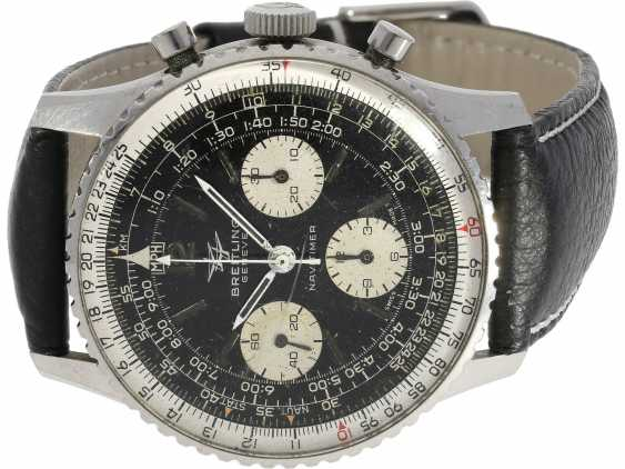 Watch: beautifully preserved Breitling flying Chronograph Navitimer, Ref. 806 with original manual, CA. 1968 - photo 1