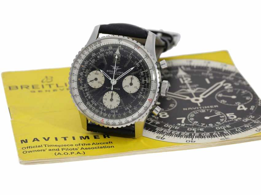 Watch: beautifully preserved Breitling flying Chronograph Navitimer, Ref. 806 with original manual, CA. 1968 - photo 5