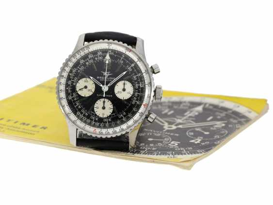 Watch: beautifully preserved Breitling flying Chronograph Navitimer, Ref. 806 with original manual, CA. 1968 - photo 6