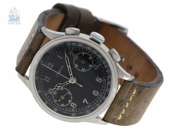 "Watch: very rare ""oversize"" Aviator Chronograph from Lemania, 50s - photo 1"