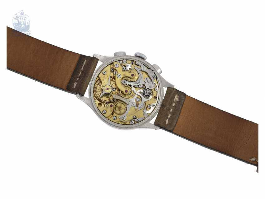 "Watch: very rare ""oversize"" Aviator Chronograph from Lemania, 50s - photo 4"