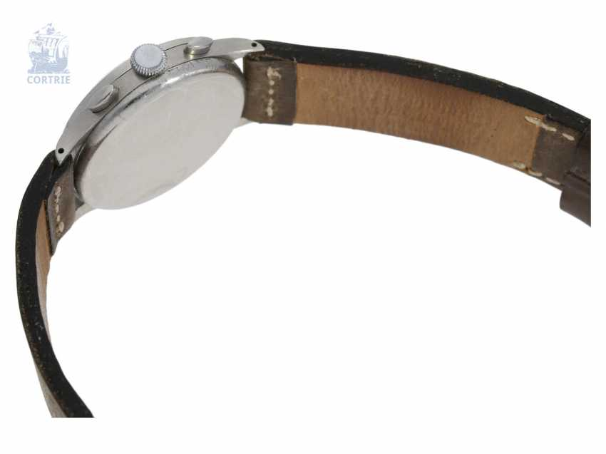 "Watch: very rare ""oversize"" Aviator Chronograph from Lemania, 50s - photo 5"