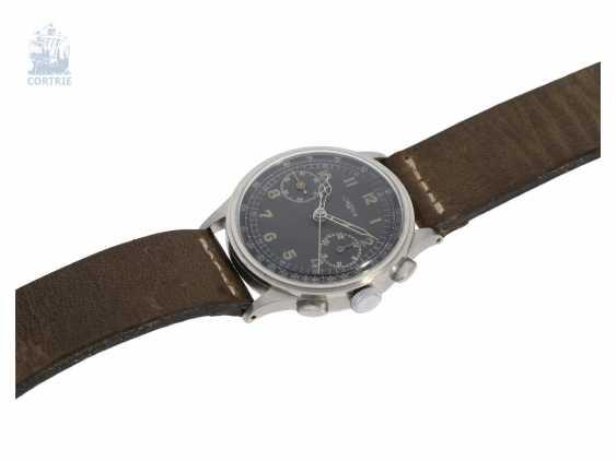 "Watch: very rare ""oversize"" Aviator Chronograph from Lemania, 50s - photo 6"