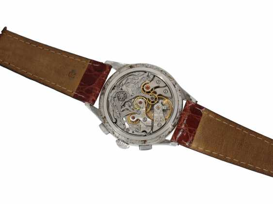 "Armbanduhr: sehr seltener ""oversize-38mm"" Flyback Chronograph, Longines 30CH, Ref. 5982-10 in Stahl, ca.1960 - photo 2"