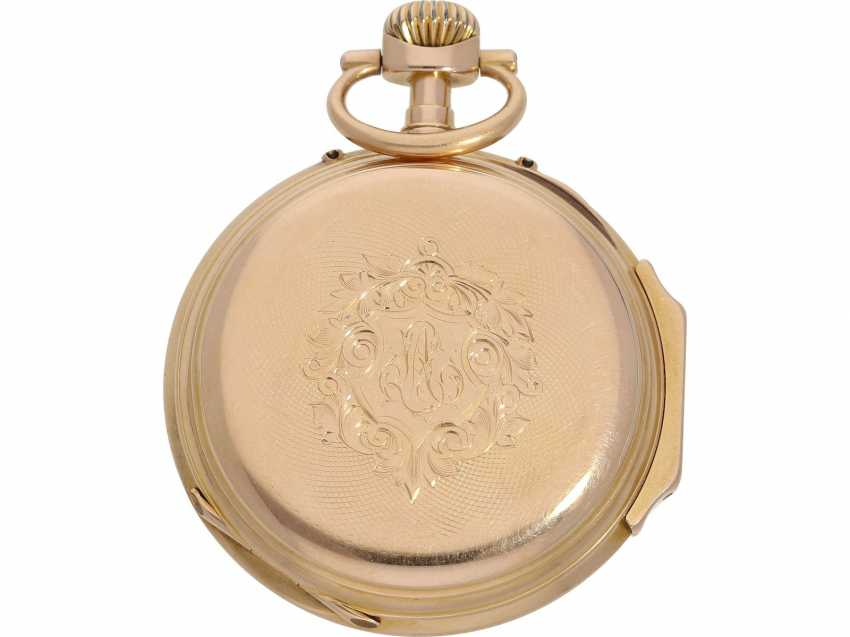 Pocket watch: very beautiful Louis XV Lepine, with a calendar, 18K red gold case, signed Vuillermos a Saigon, CA. 1870 - photo 2