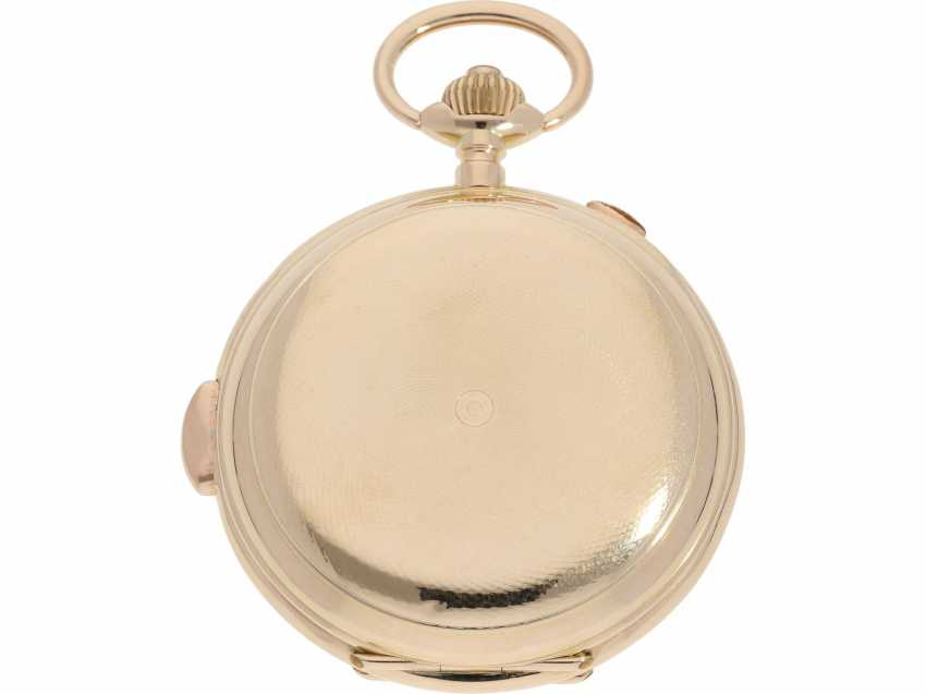 Pocket watch: an impressive, heavy Invicta gold savonnette with 6 complications, made for the Russian market around 1900 - photo 3