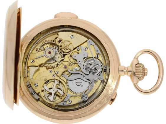 Pocket watch: an impressive, heavy Invicta gold savonnette with 6 complications, made for the Russian market around 1900 - photo 4