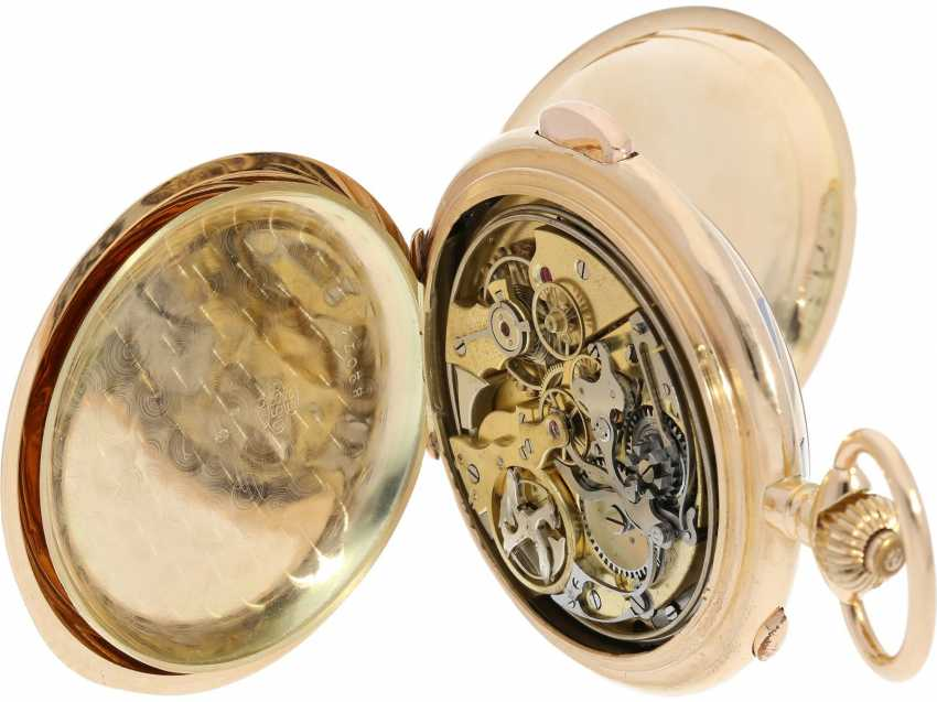 Pocket watch: an impressive, heavy Invicta gold savonnette with 6 complications, made for the Russian market around 1900 - photo 6