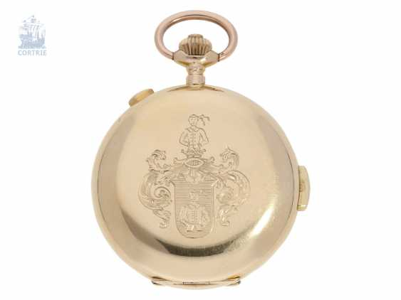 Pocket watch: heavy gold savonnette minute repeater and Chronograph, Switzerland CA. 1900 - photo 2
