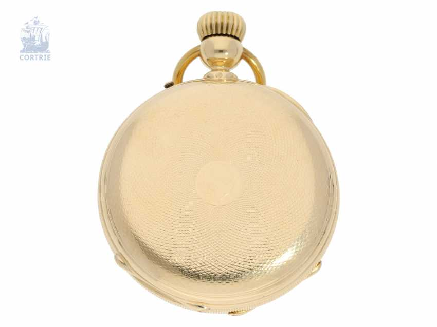 Pocket watch: very interesting and high fine Pocket chronometer with chain/auger and very rare a lift mechanism, Switzerland around 1860 - photo 2