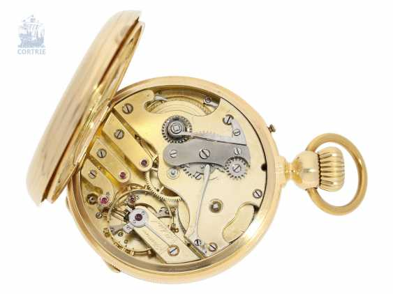 Pocket watch: very interesting and high fine Pocket chronometer with chain/auger and very rare a lift mechanism, Switzerland around 1860 - photo 3