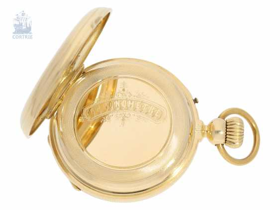 Pocket watch: very interesting and high fine Pocket chronometer with chain/auger and very rare a lift mechanism, Switzerland around 1860 - photo 6