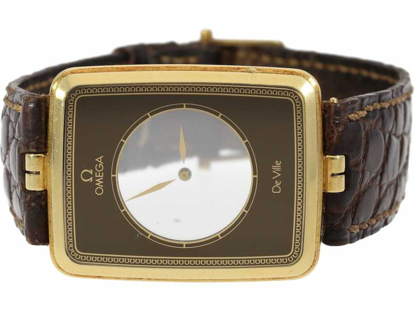 """Watch: ultra-rare, ultra flat Omega wrist watch from 1981 with a display of the time on 2 rotating sapphire discs """"LA MAGIQUE"""" Ref. BA 523.1025, in collector circles, """"Scarface"""", a. 1981/82, original box - photo 3"""