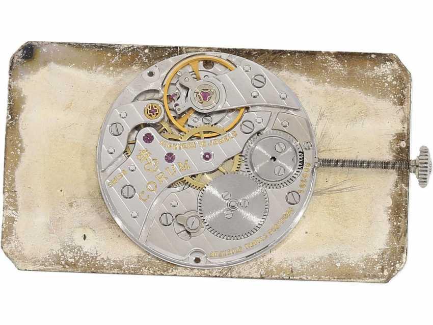 "Watch: extravagant white gold watch Corum, For Rolls, Corum ""Spirit of Ecstasy, Rolls Royce"" , Ref. 55585 ""Big-Size-Edition"" with original case and original box, CA. 1980 - photo 8"