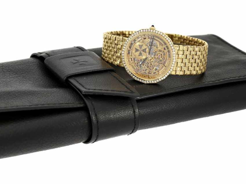 "Watch: extremely rare Vacheron & Constantin ""Skeleton"" with original diamonds, original gold band, original papers & original sheath , Ref.43502 Automatic, 1985 - photo 2"