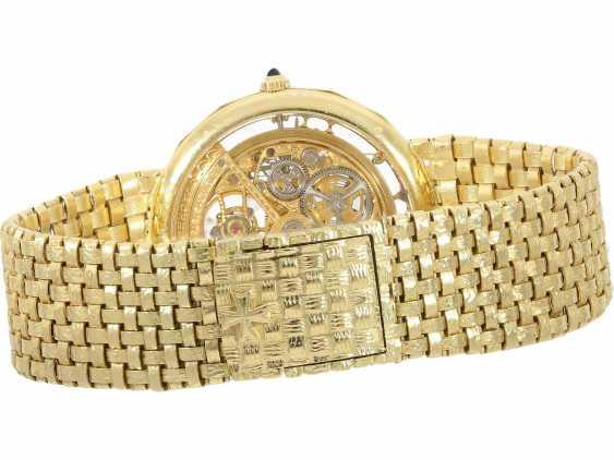 "Watch: extremely rare Vacheron & Constantin ""Skeleton"" with original diamonds, original gold band, original papers & original sheath , Ref.43502 Automatic, 1985 - photo 4"