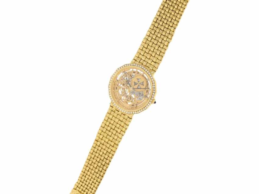 "Watch: extremely rare Vacheron & Constantin ""Skeleton"" with original diamonds, original gold band, original papers & original sheath , Ref.43502 Automatic, 1985 - photo 7"