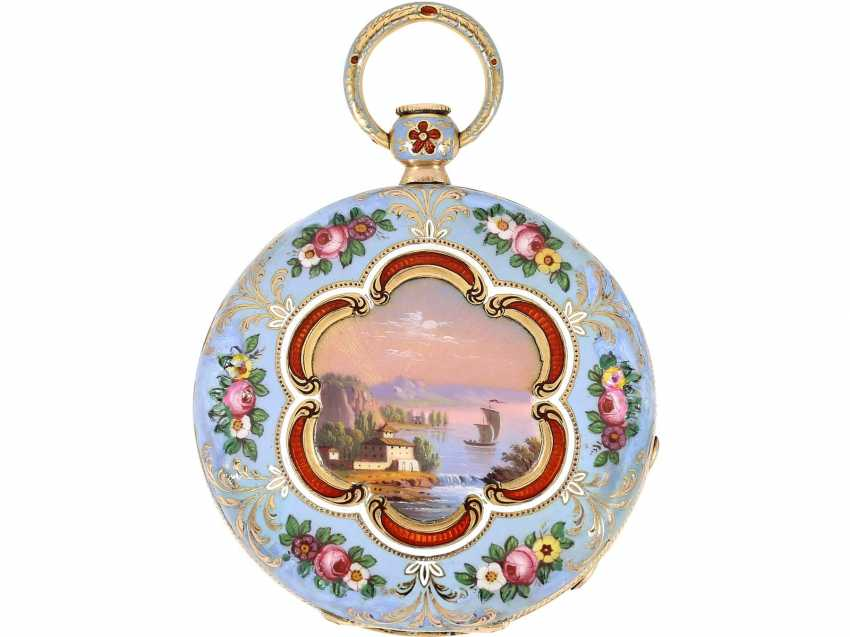 Pocket watch: fine Gold/enamel Lepine for the Ottoman market, LeRoy, Paris, No. 6269, CA. 1830 - photo 1
