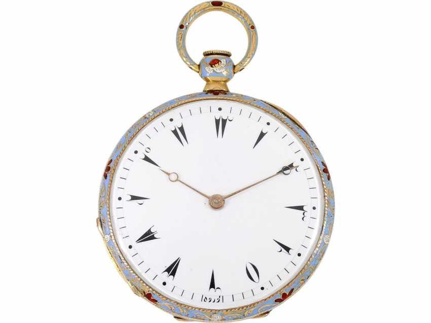 Pocket watch: fine Gold/enamel Lepine for the Ottoman market, LeRoy, Paris, No. 6269, CA. 1830 - photo 2