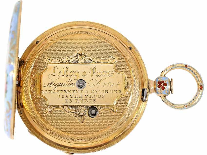 Pocket watch: fine Gold/enamel Lepine for the Ottoman market, LeRoy, Paris, No. 6269, CA. 1830 - photo 3