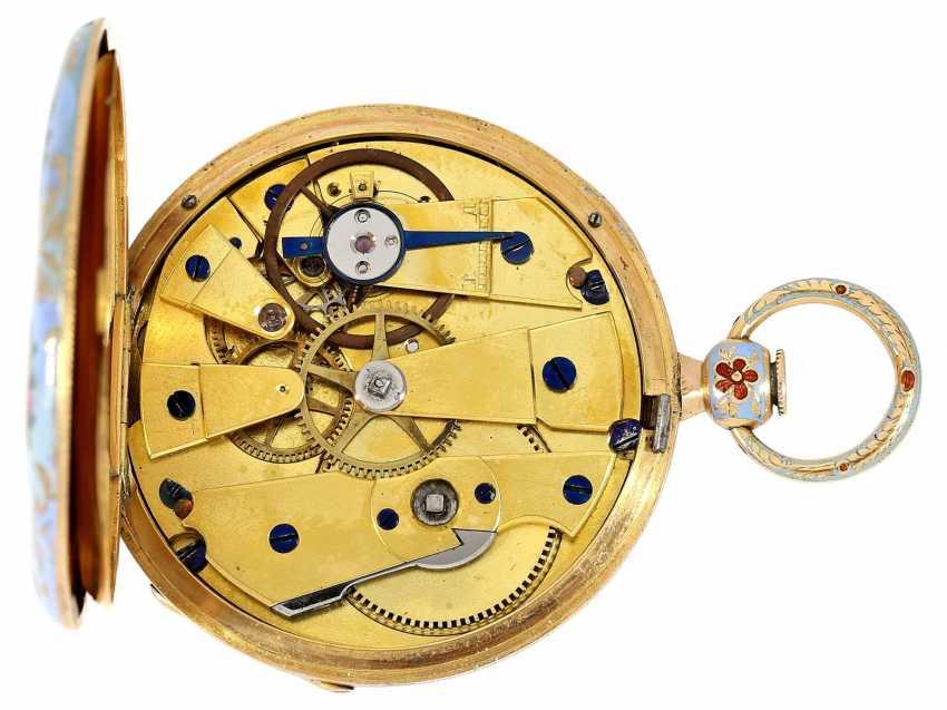 Pocket watch: fine Gold/enamel Lepine for the Ottoman market, LeRoy, Paris, No. 6269, CA. 1830 - photo 4