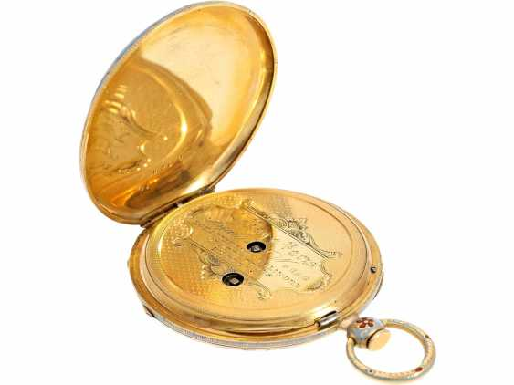 Pocket watch: fine Gold/enamel Lepine for the Ottoman market, LeRoy, Paris, No. 6269, CA. 1830 - photo 5