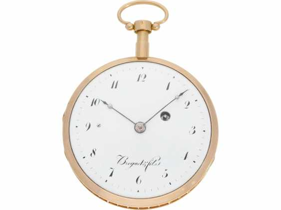 Pocket watch: early and high fine Spindeluhr with minute repeater signed Breguet et Fils, No. 3688, Paris, CA. 1820 - photo 1