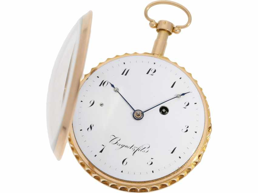 Pocket watch: early and high fine Spindeluhr with minute repeater signed Breguet et Fils, No. 3688, Paris, CA. 1820 - photo 3