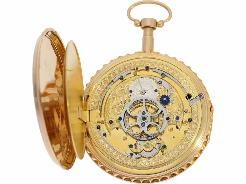 Pocket watch: early and high fine Spindeluhr with minute repeater signed Breguet et Fils, No. 3688, Paris, CA. 1820 - photo 4