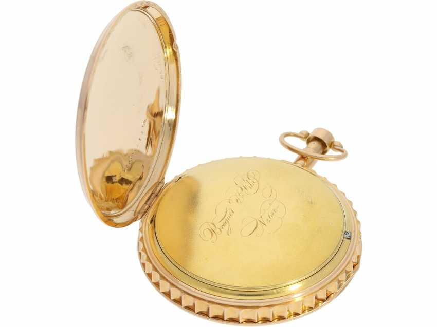 Pocket watch: early and high fine Spindeluhr with minute repeater signed Breguet et Fils, No. 3688, Paris, CA. 1820 - photo 5
