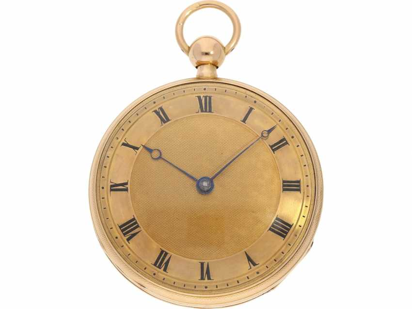 Pocket watch: very fine rose gold pocket watch with percussion and Musical movement, signed PM No. 3028, attributed to Piguet & Meylan, Geneva (1811-1828) - photo 1