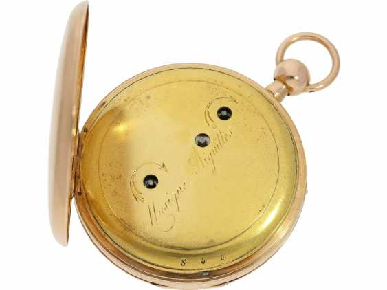Pocket watch: very fine rose gold pocket watch with percussion and Musical movement, signed PM No. 3028, attributed to Piguet & Meylan, Geneva (1811-1828) - photo 3
