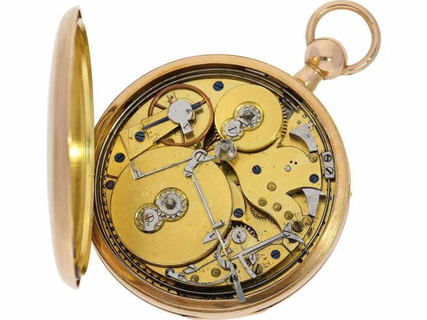 Pocket watch: very fine rose gold pocket watch with percussion and Musical movement, signed PM No. 3028, attributed to Piguet & Meylan, Geneva (1811-1828) - photo 4
