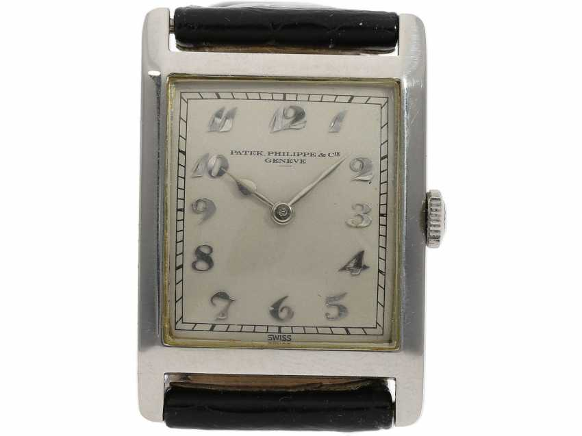 Watch: very fine, early, early, early Art Deco men's watch in platinum, Patek Philippe No. 805536. 1925/26 - photo 1
