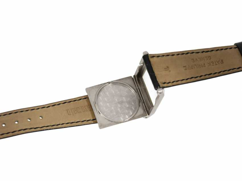 Watch: very fine, early, early, early Art Deco men's watch in platinum, Patek Philippe No. 805536. 1925/26 - photo 3