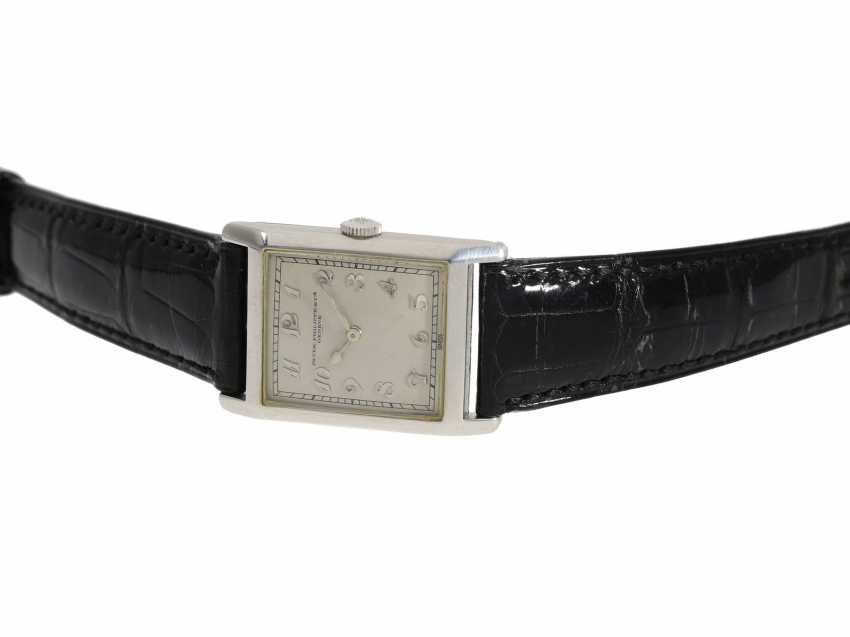 Watch: very fine, early, early, early Art Deco men's watch in platinum, Patek Philippe No. 805536. 1925/26 - photo 4