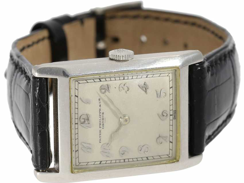 Watch: very fine, early, early, early Art Deco men's watch in platinum, Patek Philippe No. 805536. 1925/26 - photo 6