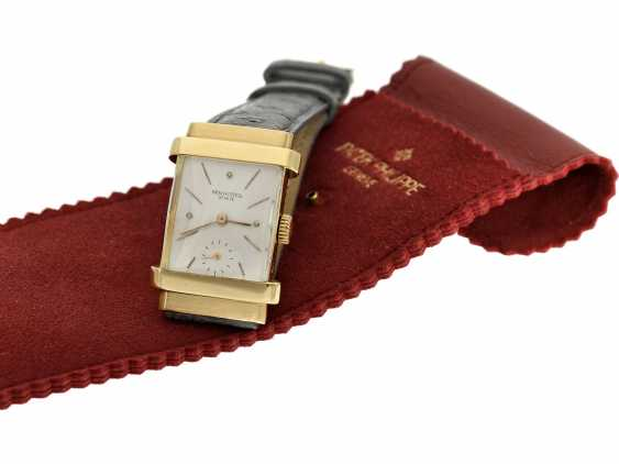 "Watch: very rare Patek Philippe men's watch from the year 1944, searched reference 1450, also called ""TOP hat"", with the master excerpt from the book, and PP case - photo 2"