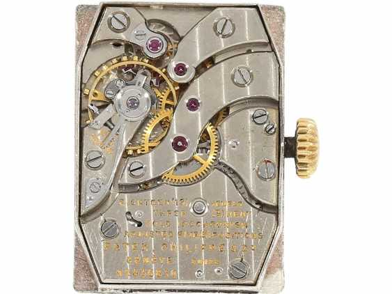 "Watch: very rare Patek Philippe men's watch from the year 1944, searched reference 1450, also called ""TOP hat"", with the master excerpt from the book, and PP case - photo 6"