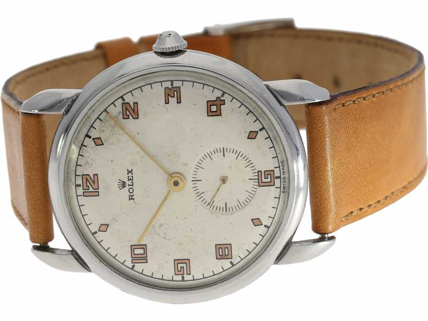 Watch: extremely rare large Rolex watch Ref. 4038, one of the rarest stainless steel models from the year 1946/47 - photo 1