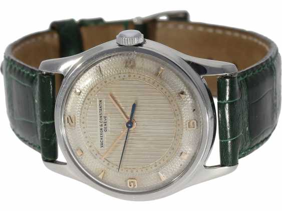 "Watch: extremely rare, early Vacheron & Constantin men's watch steel, Ref. 4310 ""GUILLOCHÉ DIAL"", Geneva in 1953, with the master excerpt from the book - photo 6"