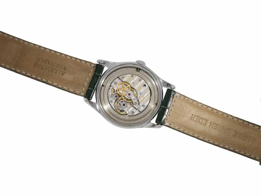 "Watch: extremely rare, early Vacheron & Constantin men's watch steel, Ref. 4310 ""GUILLOCHÉ DIAL"", Geneva in 1953, with the master excerpt from the book - photo 7"