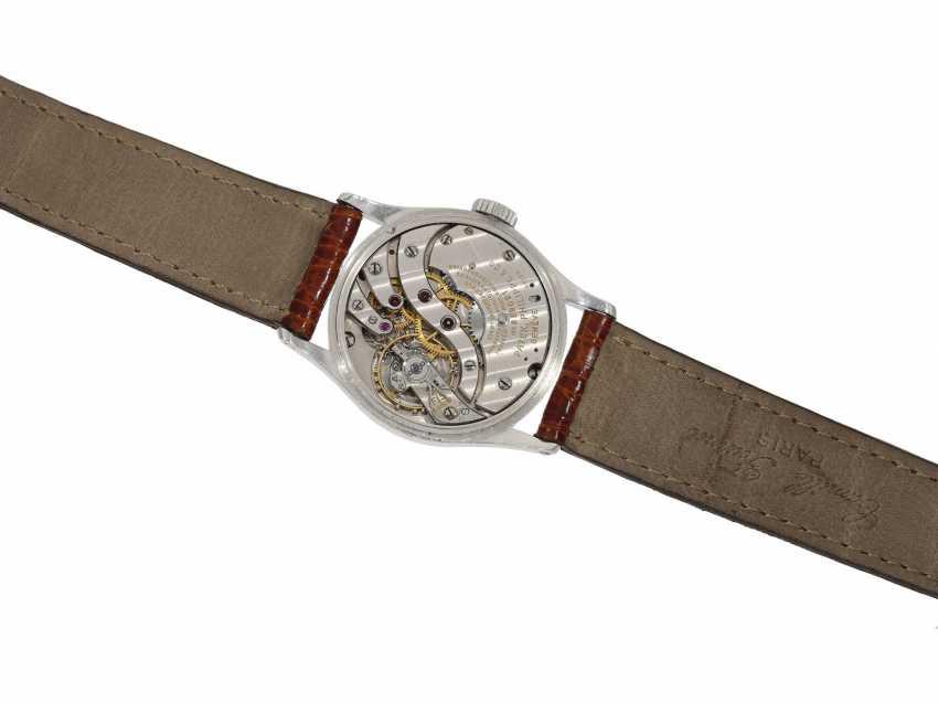 Watch: significant Patek Philippe watch, the 1. Series of the famous Calatrava Ref. 96 as a special model platinum-platinum-Complete-equipment, 2-dials, and verm. orig. Box, Patek Philippe Stem Book Excerpt, Geneva, 1938 - photo 3