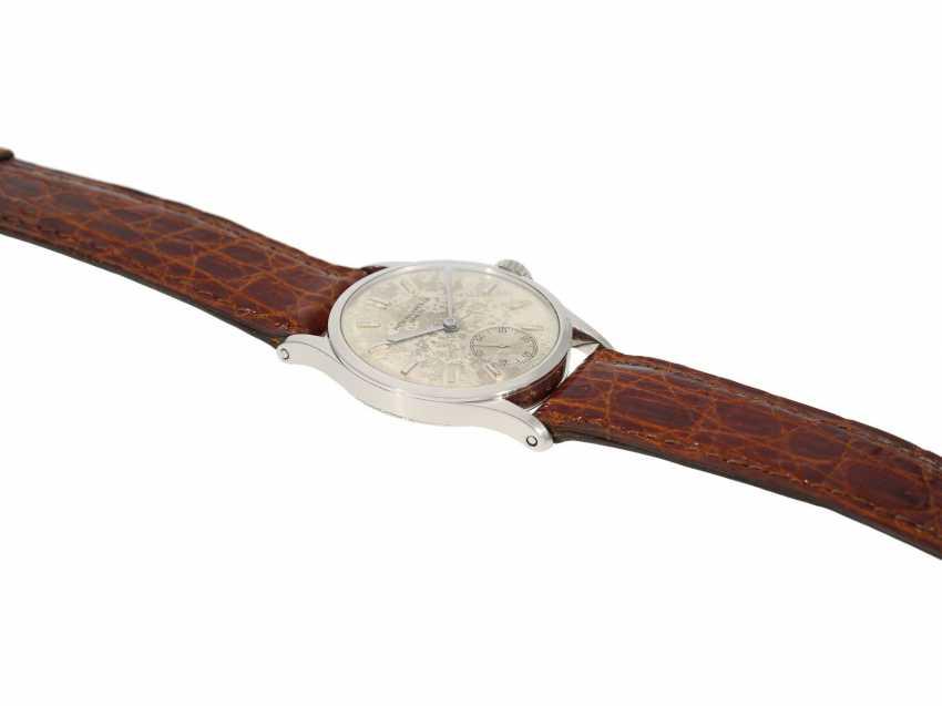 Watch: significant Patek Philippe watch, the 1. Series of the famous Calatrava Ref. 96 as a special model platinum-platinum-Complete-equipment, 2-dials, and verm. orig. Box, Patek Philippe Stem Book Excerpt, Geneva, 1938 - photo 6