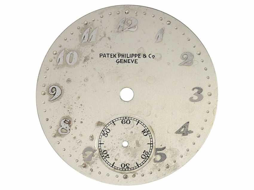 Watch: significant Patek Philippe watch, the 1. Series of the famous Calatrava Ref. 96 as a special model platinum-platinum-Complete-equipment, 2-dials, and verm. orig. Box, Patek Philippe Stem Book Excerpt, Geneva, 1938 - photo 7